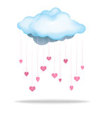 Rain of Love Cloud. Rain of Love. A cloud filled to the brim with love to rain down upon you vector illustration
