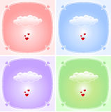 Love cloud set Stock Images