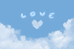 Love in the Clouds Royalty Free Stock Photography