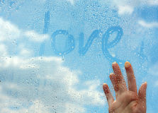 Love in clouds Royalty Free Stock Images