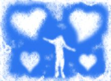 Love clouds Royalty Free Stock Image