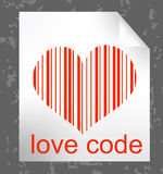 Love code illustration Stock Images