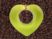 Love of coffee Stock Photos