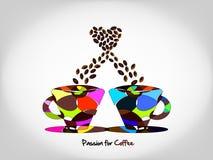 Love of coffee Stock Image