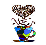 Love of coffee Royalty Free Stock Photography