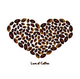 Love of coffee Royalty Free Stock Image