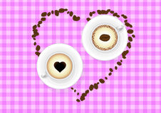 Love and coffee Royalty Free Stock Image