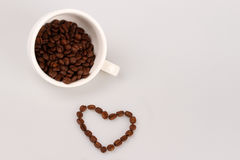 Love for coffee Stock Images