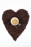 Love for coffee beans Stock Images