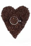 Love for coffee beans Stock Image