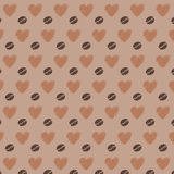 Love Coffee Beans Seamless Pattern Royalty Free Stock Images