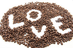 Love Coffee beans Stock Photo
