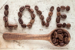 Love coffee concept Royalty Free Stock Photo