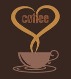 Love coffee cup, coffee cup vector Stock Images