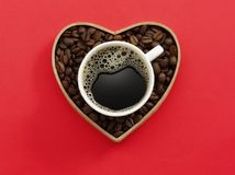 Love Coffee Cup Stock Image