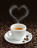 Love for coffee Royalty Free Stock Photography