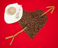 Love of coffee Royalty Free Stock Photo