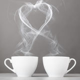 Love and coffee Stock Images