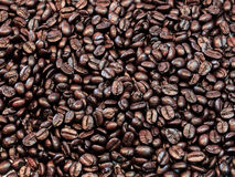 Love coffee made from coffee beans Royalty Free Stock Images