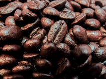 Love coffee made from coffee beans Royalty Free Stock Photography