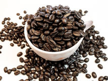 Love coffee made from coffee beans Stock Photo