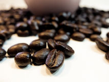 Love coffee made from coffee beans Royalty Free Stock Image