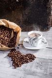 In love with coffee. Perfect cup Royalty Free Stock Photography