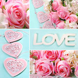 Love collage in pastel colors Stock Photo
