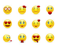 Love collection of  beauty smilies Royalty Free Stock Photos