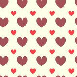 Love collection of four seamless patterns for St. Valentines Day. Colorful hearts made in vector. Love collection of four seamless patterns for St. Valentines Stock Photos