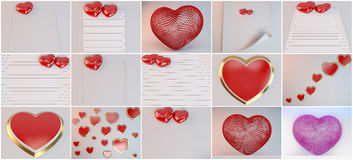 Love collection scenes Royalty Free Stock Photography