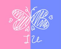 Love Collection on white background, vector illustration Royalty Free Stock Photo