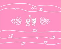 Love Collection on white background, vector illustration royalty free stock photos