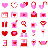 Love color icons on white background Royalty Free Stock Photos