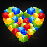 Love. Colorful frame icon vector background Royalty Free Stock Photography