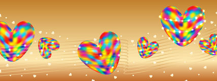 Love colorful gold banner RGB Stock Photo