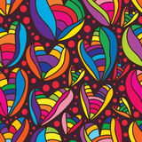 Love colorful seamless pattern. Illustration hand drawing abstract colorful love seamless pattern loves graphic colors background wallpaper texture Royalty Free Stock Images