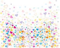 Love colorful seamless patterns Stock Image
