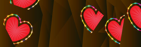 Love colorful stroke diamond shape banner RGB Royalty Free Stock Photography