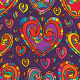 Love colorful style seamless pattern Stock Images
