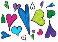 Love comes in all forms and shapes royalty free illustration