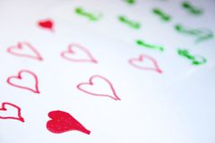 Love comes before money stock photos
