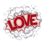 Love -  comic speech bubble Royalty Free Stock Image