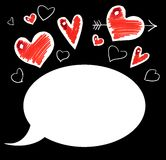 Love comics card royalty free stock photos
