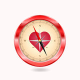Love compass Royalty Free Stock Images