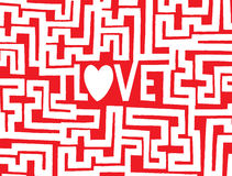 Love is a complex maze Stock Photos