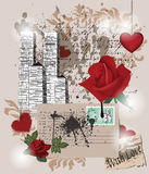 Love composition. Love memories composition - layers separated Royalty Free Stock Photos
