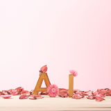 Love composition of letters Stock Photography