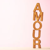 Love composition of letters Royalty Free Stock Photo