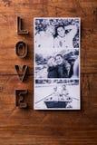 Love composition. Studio shot. Stock Photos